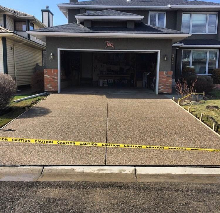 Exposed Aggregate Driveway Is Low Maintenance